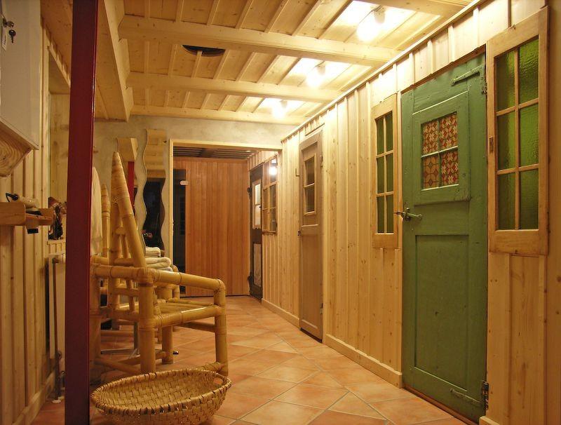 Sauna-Eingang