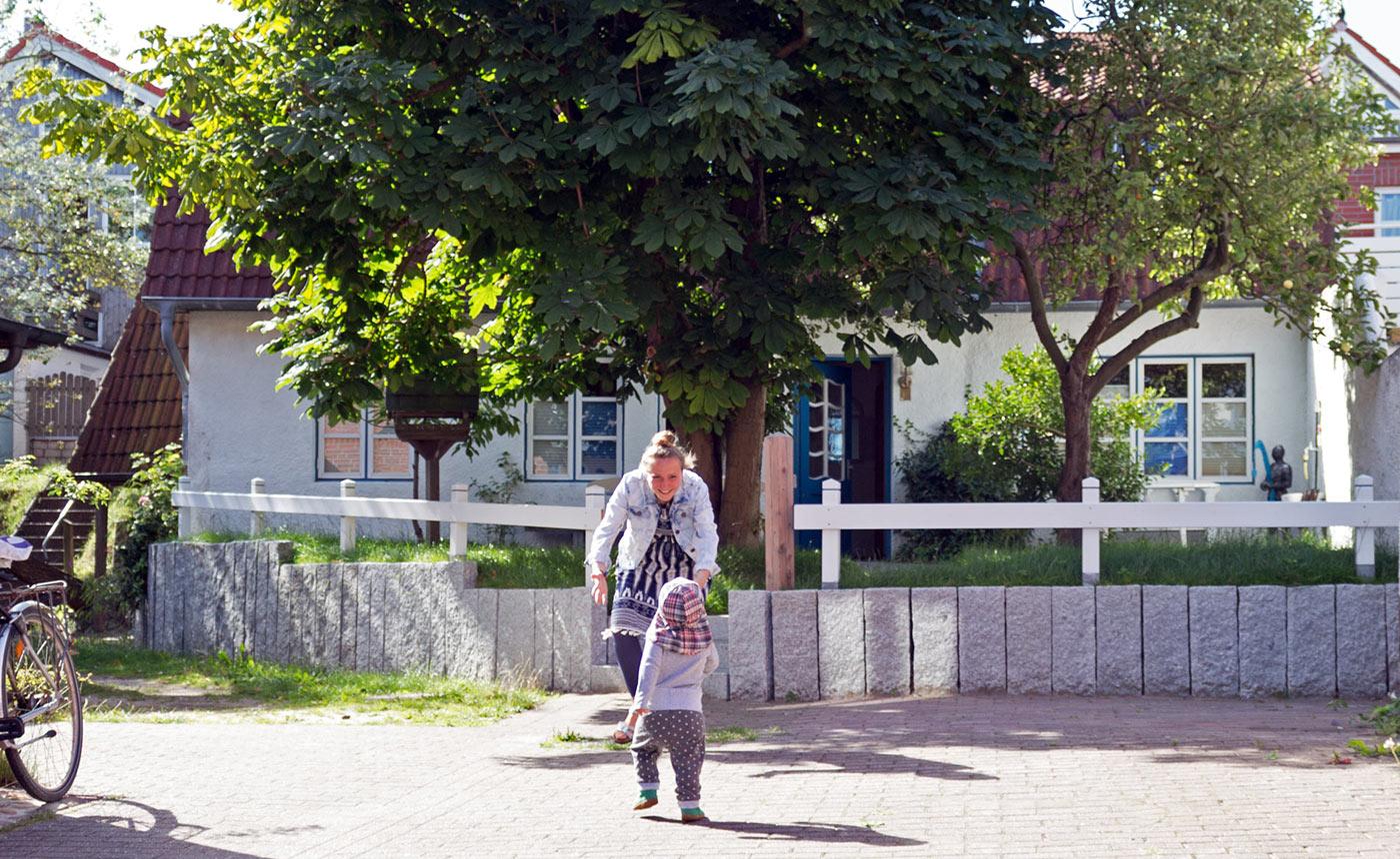 Ferienhaus Dornröschen auf Amrum im Sommer